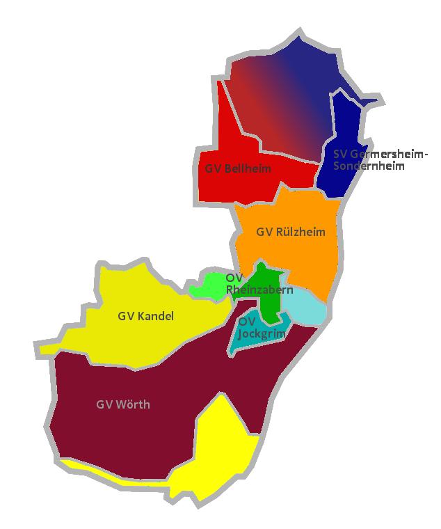 Übersichtskarte des JU Kreisverbandes Germersheim